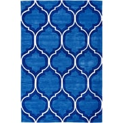 Well Woven Expressions Wallaby Lattice True Blue Area Rug; 5' x 7'6''
