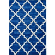 Well Woven Mirage Lattice Navy Area Rug; 5' x 7'6''