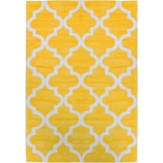 Well Woven Mirage Lattice Yellow Area Rug; 5' x 7'6''