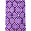 Well Woven Expressions Wallaby Lattice Plum Purple Area Rug; 5' x 7'6''