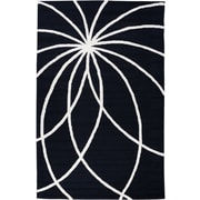 Well Woven Everest Swirls and Spirals Black Area Rug; 5' x 7'6''