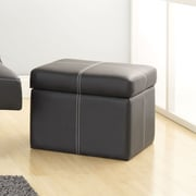 DHP Delaney Small Square Ottoman in Black