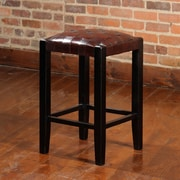 William Sheppee Studio 24'' Bar Stool with Cushion; Espresso