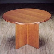 High Point Furniture Contempo 4' Circular Conference Table; Honey Cherry