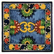 Native Trails 4'' x 4'' Asters Hand Painted Talavera Tile