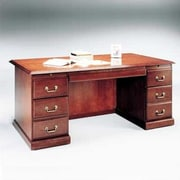 High Point Furniture Legacy Executive Desk with Double Pedestal; Wood Veneer Top With Molding