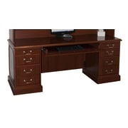 High Point Furniture Bedford Executive Desk with 3 Right & 3 Left Drawers; Mahogany