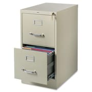 Lorell 2-Drawer Commercial-Grade  File; Putty