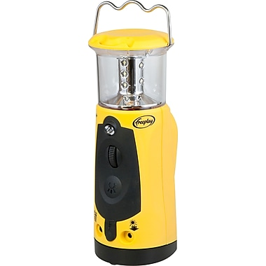 Freeplay Indigo+ Crank Powered LED Lantern with Emergency Cellphone Charger, Yellow (A205TL2YL10000F)