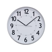 "Kiera Grace Office/Home Wall Clock, 12"", Silver, 6/Pack"