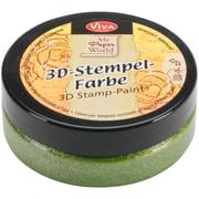 Viva Decor 3D Stamp Paint, Grass Green Metallic