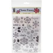 Hot Off The Press Stamps Sheet, Flower Frenzy
