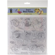 Hot Off The Press Acrylic Stamps Sheet Janie's Beary Fairies