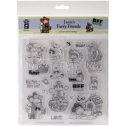 Hot Off The Press Acrylic Stamps Sheet Janie's Furry Friends