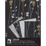 Graphic Products Decorative Paper Pack 11 x 8.5 inch, Meadow Flowers Black