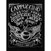 Melissa Frances Chalkboard Canvas Print 15.75 x 12 inch , Cappuccino