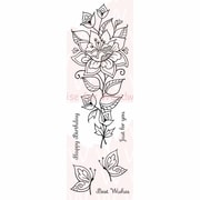Woodware Craft Collection Clear Stamps, Persion Flower
