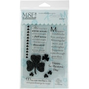 MSE My Sentiments Exactly Clear Stamps 4 x 6 inch Sheet, Irish Blessings