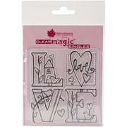 Woodware Craft Collection Clear Stamps 3.5 x 3.5 inch, Sheet-Love