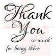 Woodware Craft Collection Clear Stamps 3.5 x 3.5 inch, Sheet-Script Thank You