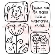 Woodware Craft Collection Clear Stamps 3.5 x 3.5 inch, Sheet-Wonderful Friend