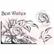 Woodware Craft Collection Stamp, Rose Corner Aspects