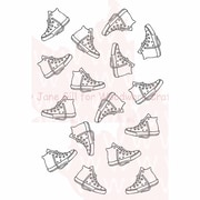 Woodware Craft Collection Stamps Clear 5.5 x 3.5 inch, Sneaker Background