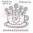 Woodware Craft Collection Clear Stamps 3.5 x 3.5 inch, Sheet-Cup Of Love