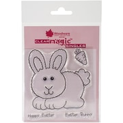 Woodware Craft Collection Clear Stamps 3.5 x 3.5 inch, Sheet-Hoppy Bunny