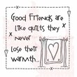 Woodware Craft Collection Clear Stamps 3.5 x 3.5 inch, Sheet-Quilt Friends