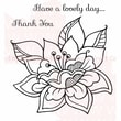 Woodware Craft Collection Clear Stamps 3.5 x 3.5 inch, Sheet-Single Bloom