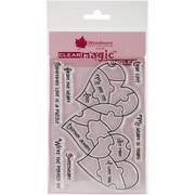 Woodware Craft Collection Stamps, Love Puzzle