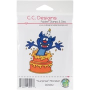 Doodle Dragon Cling Stamp, Surprise Monster