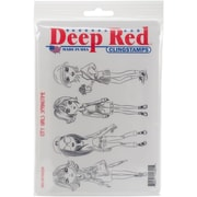 Deep Red Stamps Cling Stamp, City Girls Springtime