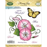 Justrite Papercraft Cling Stamp, Morning Glory