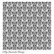 My Favorite Things Background Cling Rubber Stamp, Damask