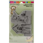 Stampendous House Mouse Cling Rubber Stamp Sheet, Air Mail