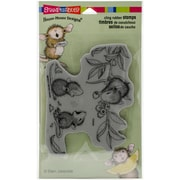 Stampendous House Mouse Cling Rubber Stamp Sheet, Berry Sharing