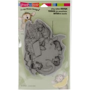 Stampendous House Mouse Cling Rubber Stamp Sheet, Chamomile Nap