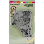 Stampendous House Mouse Cling Rubber Stamp Sheet, Cookie Bandits