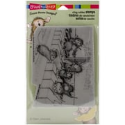 Stampendous House Mouse Cling Rubber Stamp Sheet, Musical Mice
