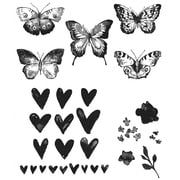 Stampers Anonymous Tim Holtz Cling Rubber Stamp Set, Watercolor