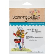 Stamping Bella Cling Rubber Stamps, Uptown Couple Bella & Barney Have A BBQ