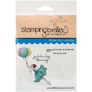 Stamping Bella Cling Rubber Stamps, Uptown Girl Bentley Gets Blown Away