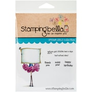 Stamping Bella Cling Rubber Stamps, Uptown Girl Serena Has A Sign
