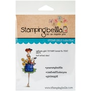 Stamping Bella Cling Rubber Stamps, Uptown Girl Tiffany Loves To Text