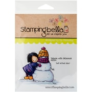 Stamping Bella Cling Rubber Stamps, Valerie With Snowman
