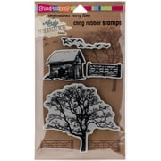 Stampendous As Cling Rubber Stamp Set, Nature
