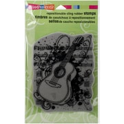 Stampendous Cling Rubber Stamps, Acoustic Sounds