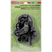 Stampendous Cling Rubber Stamps, Bird Gears